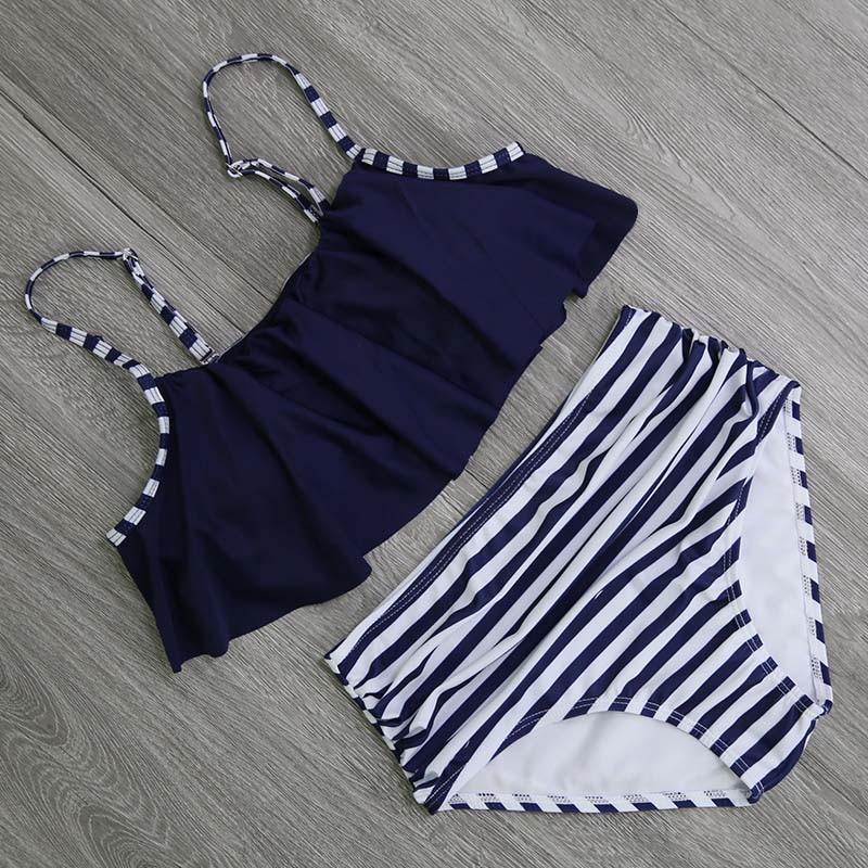 HTB1o.cTiGSWBuNjSsrbq6y0mVXa9 2018 Bikinis Women Swimwear High Waist Swimsuit Halter Sexy Bikini Set Retro Bathing Suits Plus Size Swimwear XXL