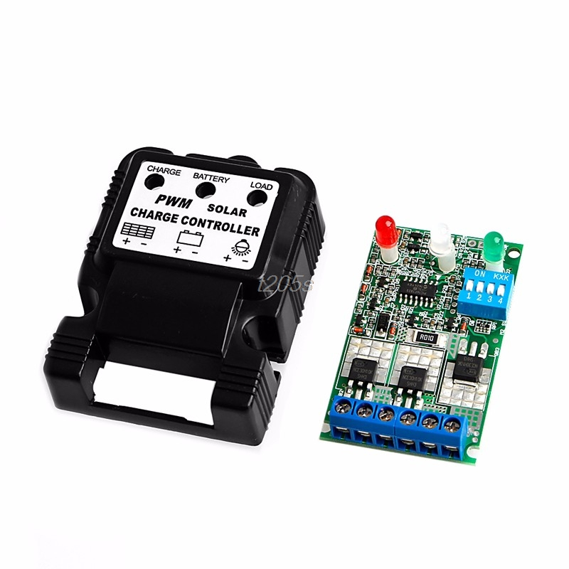 Auto Solar Panel Charge Controller Battery Charger Regulator New 6V 12V 10A PWM T15 Drop ship