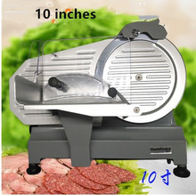 110V/220V Electric Meat Slicers Frozen Beef Mutton Roll Stainless Steel Mincer Vegetable Cutting Machine 10 inches цена и фото