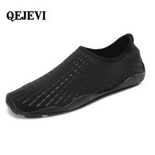 QEJEVI/бесплатная доставка, мужская и женская обувь для плавания и рыбалки, пляжная обувь для мужчин, дышащая обувь в полоску, zapatos hombre