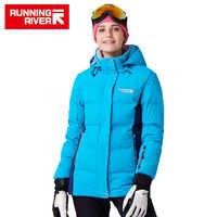 FIUME che scorre Marca Donne Termiche Invernali Sci Warm Jacket 5 colori 5 Formati di Alta Qualità Caldo Donna Giacche Sportive All'aperto # D7153