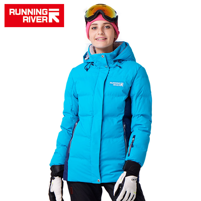 RUNNING RIVER Brand Winter Thermal Women Ski Warm Jacket 5 Colors 5 Sizes High Quality Warm Woman Outdoor Sports Jackets #D7153 running river brand high quality ski jacket for men 4 colors 6 sizes man winter outdoor sports jackets warm ski clothing a5026