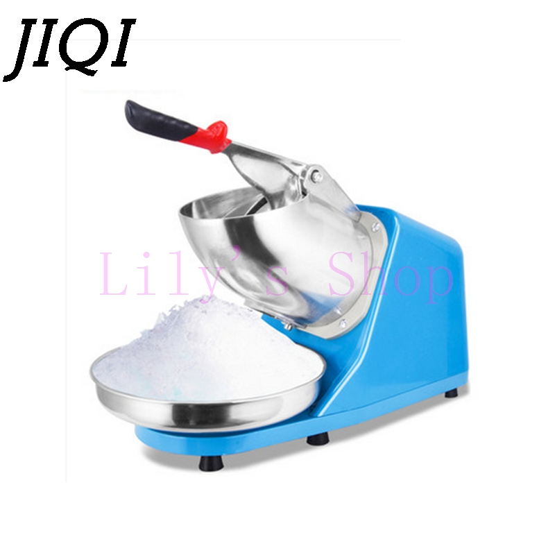 JIQI Electric Ice crusher shaver snow cone ice block making machine household commercial ice slush sand maker ice tea shop EU US electric ice block shaver for bar and restaurant