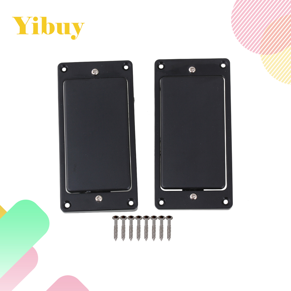 Yibuy Black Sealed Humbucker Pickup Set Bridge Pickup and Neck Pickups For Electric Guitar yibuy gold vintage lipstick tube pickup for single coil electric guitar