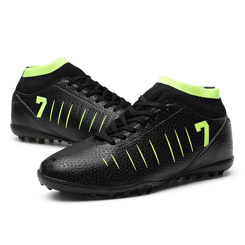 cadc12db Футбольные бутсы футбольная обувь Новые взрослые мужские уличные футбольные  бутсы высокие TF/FG тренировочные спортивные