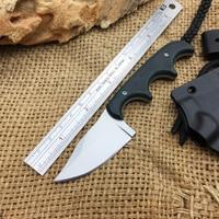 Camping Resgate Faca No Pescoço  Lâmina 9Cr18Mov Micarta Handle Survival Knives Fixa  Tático Faca Pequena. fixed knife survival fixed knife small knife -