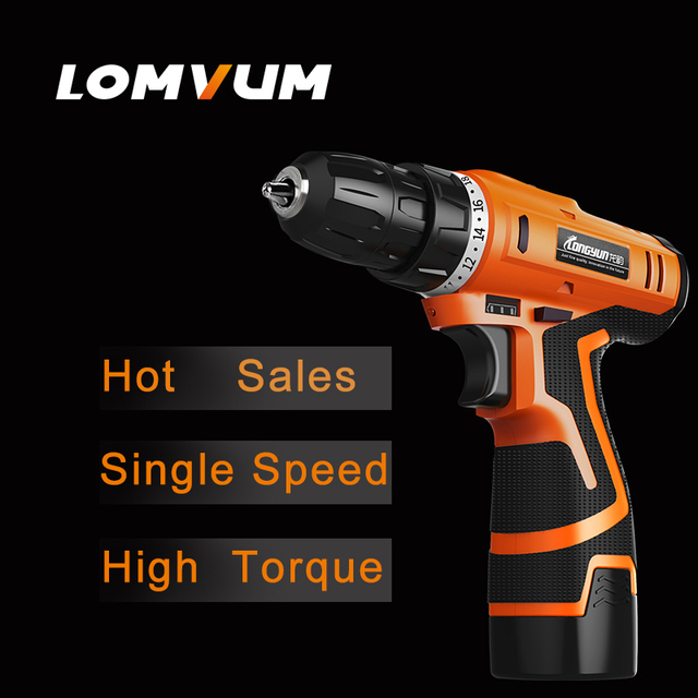 LOMVUM New Arrivals Electric Screwdriver Multifunction Power Tools Electric Drill WaterProof Rechargeable Mini Cordless Drill   3