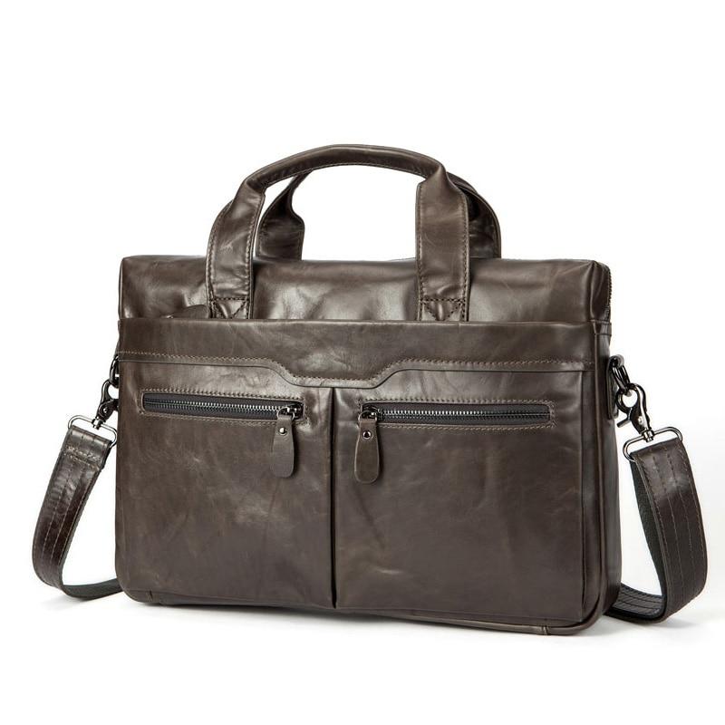 Men's Briefcase Genuine Leather Business Handbag 14
