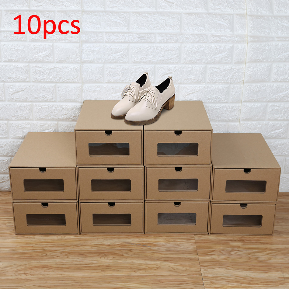 •CellDeal pi ces Bo tes Chaussures Organisateur Tiroir Pliable Empilable Stockage vident Carton ...