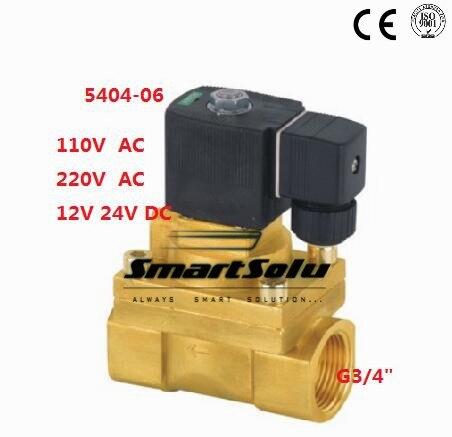 5404-06 G1 High Pressure 4MPA 2Way 150c Degree High Temperature Brass Solenoid Valve PTFE Seal