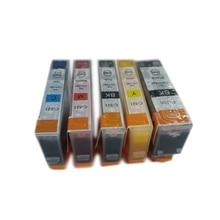 vilaxh 5Pcs PGI-520 CLI-521 Ink Cartridge PGI 520 PGI520 For Canon PIXMA MP540 MP550 MP560 MP620 MP630 MP640 IP3600 IP4600 5pcs pgi 520 cli 521 compatible ink cartridges for canon pixma ip3600 ip4600 ip4700 mx860 mx870 printer pgi520 cli521 pgi 520