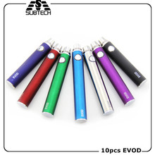 10PCS Sub Two EVOD battery e cigarette 650/900/1100mah vaporizer digital vapor evod starter battery match ce4 ce5 mt3 atomizers