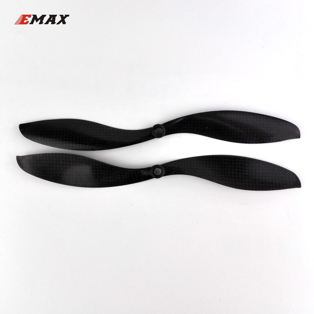 2pairs EMAX 1047 propeller APC/SF carbon fiber CW/CCW props 10 x 4.7 inch for quadcopter FPV multi axis copter drone uav parts 5055 carbon fiber propeller cw ccw 2 pair for 200 250 300 quadcopter black 2 pairs