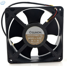 DHL Free Original KD1212PMB3-6A DC 12V 0.52A 3.2W 12038 120*120*38mm 3100RPM 3 Wires Computer Blower Double Ball Cooling Fan
