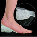High Quality Foot Massage Pad Comfortable 5 Layers Height Increase Silicone Gel Inserts Lift Shoe Pads 1Pair TN
