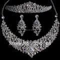 2016 New Fashion Magnificent Crystal Bridal Jewelry sets Charming Rhinestone Wedding jewelry sets For Women hair Accessories