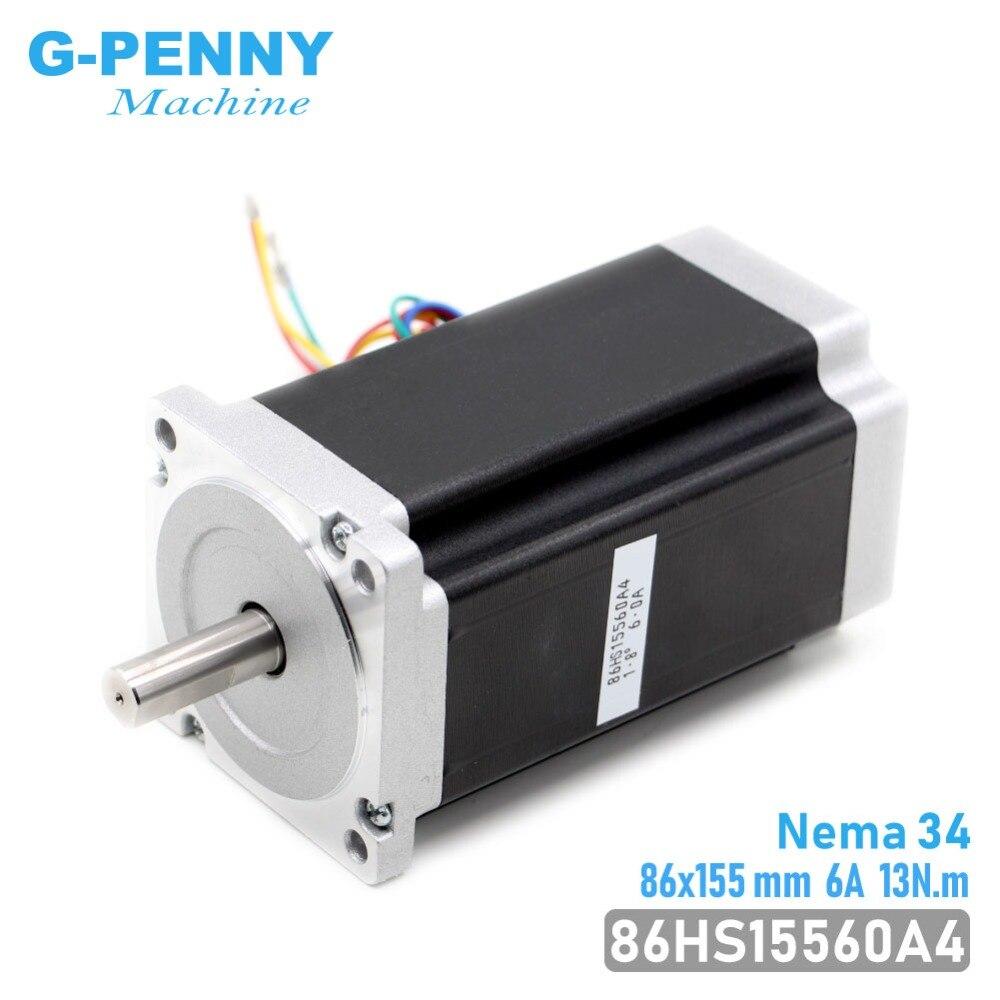 NEMA 34 CNC schrittmotor 86X155mm 13 N. m 6A Durchmesser 14mm Nema34 stepping motor 1700Oz-in für CNC gravur maschine hohe drehmoment