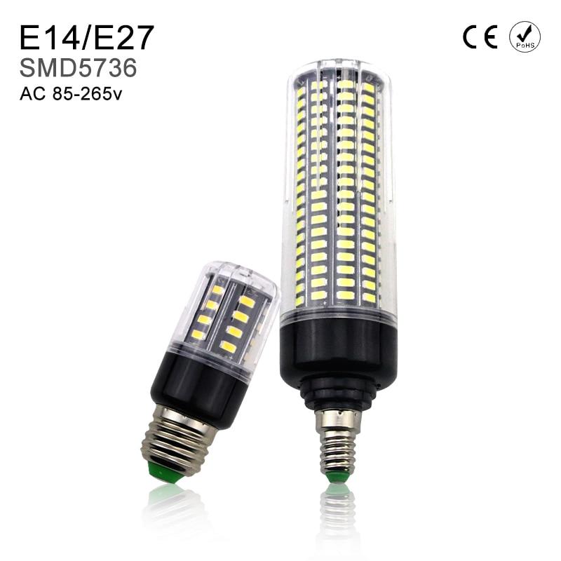 Lamparas LED Bombillas E27 LED Energy saving Led Corn Light Bulb Led Lamp E14 5W 7W 9W 12W 15W 20W AC85-265V No Flicker 5736