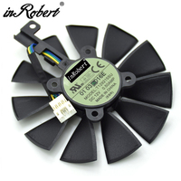 Everflow 87MM T129215SU 4Pin Cooling Fan For GTX980Ti R9 390X 390 GTX 1050 1060 1080 1070