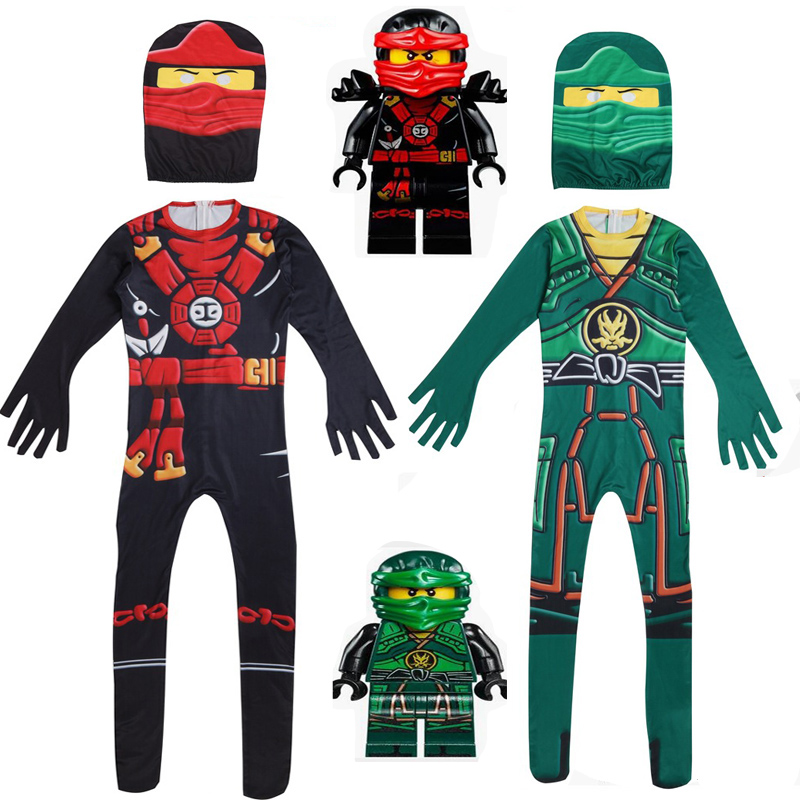 Home Punctual Ninjago Cosplay Jumpsuit Christmas Fancy Party Body Set Street Ninja Halloween Lego Ninja Childrens Clothing Boys Birthday Gift Distinctive For Its Traditional Properties