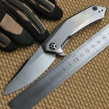 Ben 0095 D2 steel blade TC4 titanium handle ceramic ball Bearing folding knife camp hunt outdoor survival pocket knives EDC tool