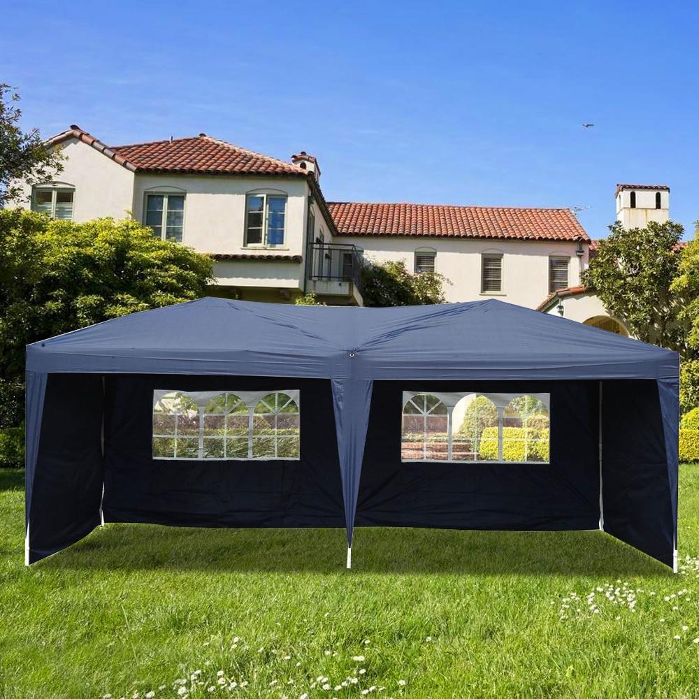3x6 m deux fenêtres pratique étanche tente pliante bleu