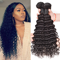 Alionly Peruvian Deep Wave Virgin Hair Deep Curly Weave Human Hair Bundles Peruvian Virgin Hair Wet And Wavy Curly Hair Bundles