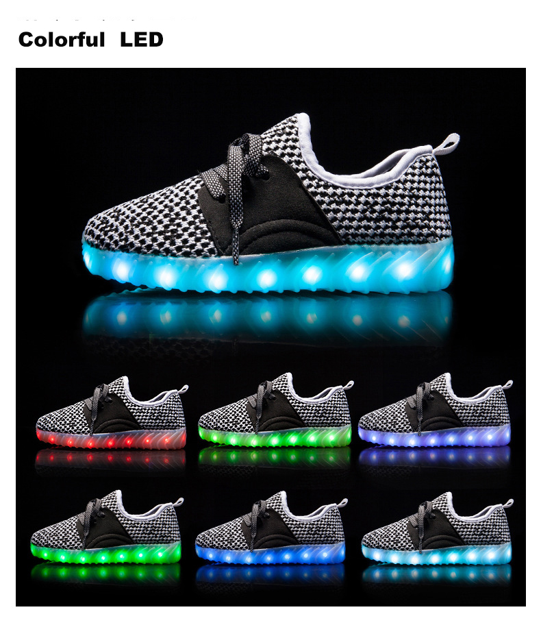Led Sneakers YZY v2 Kids 1