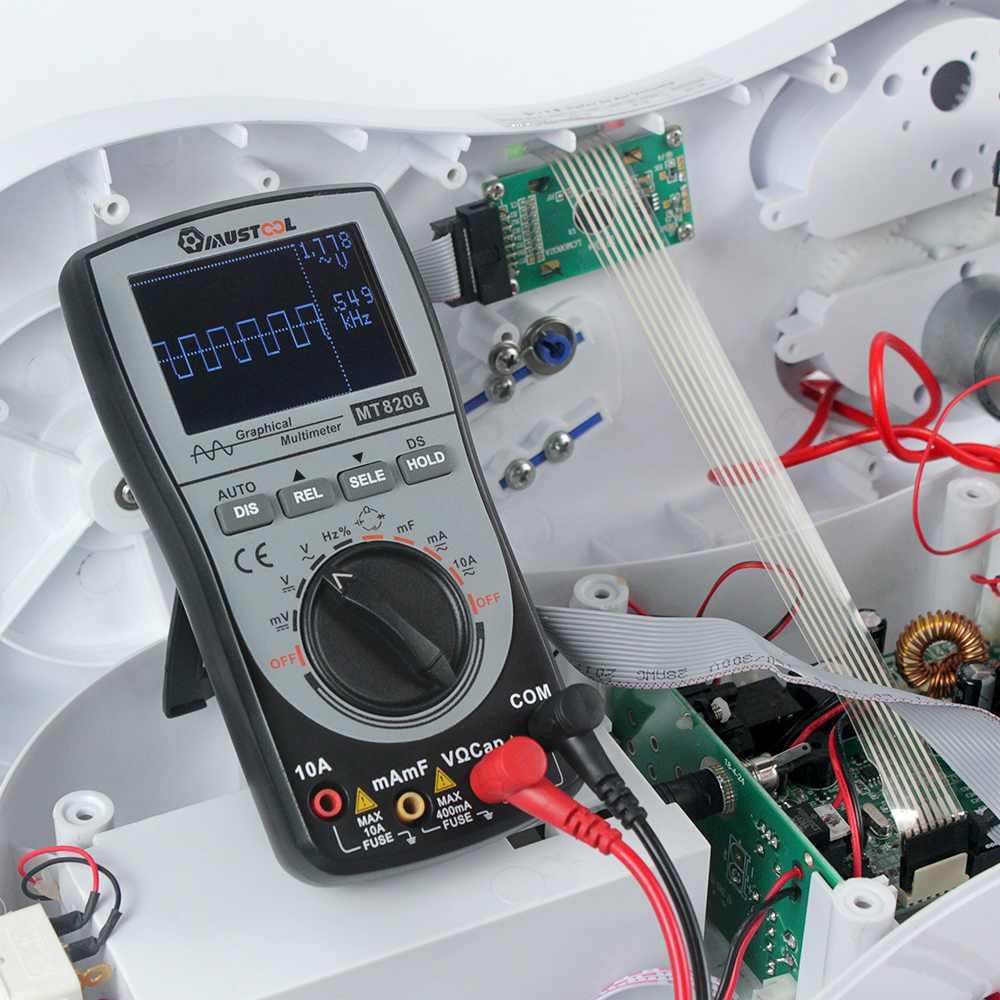 2 in 1 MT8206 Intelligent Digital Oscilloscope Multimeter MUSTOOL Upgraded Analog Bar Graph 200k High-speed A/D Sampling Pakistan