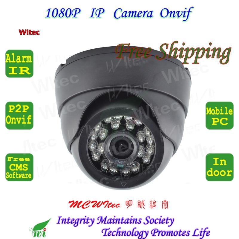 Network CCTV Camera IR HD 1080P Indoor Dome Security CCTV Surveillance ONVIF P2P Cam IR Cut Filter 2MP Lens for small room audio hd 960p 1 3mp plastic indoor dome ip camera security network onvif p2p pickup