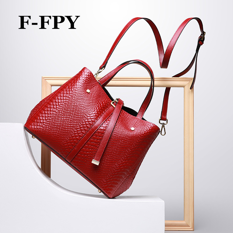 F-FPY tout nouveau femmes robe sacs à main de haute qualité en cuir de vache véritable bureau dames de travail sac à bandoulière femme Messenger sac
