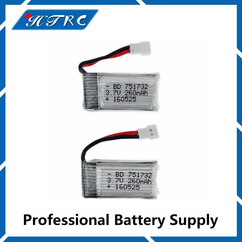 2 pcs 3.7V 260mAh li-po Batteries batterie pour JJRC H8 Mini Eachine H8 RC Quadcopter Accessoire drone jouet pices