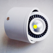 Free shipping 7W/10W/15W/20W Surface Mounted Dimmable COB Led Ceiling Downlight White/Black shell Led Spot Light With Led Driver все цены