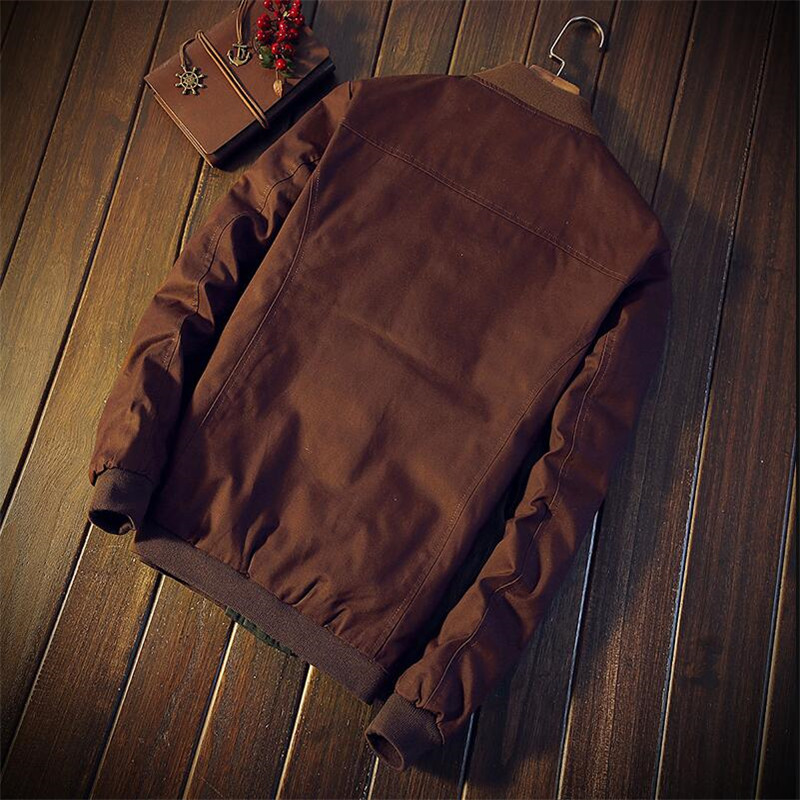 e294dc555e1ae Autumn maless jacket new slim quick paragraph colour matching stand