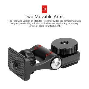 Image 5 - Ulanzi soporte para Monitor, brazos móviles duales, rotación de 180 grados, soporte de zapata fría para cámaras DSLR, Monitor de vídeo