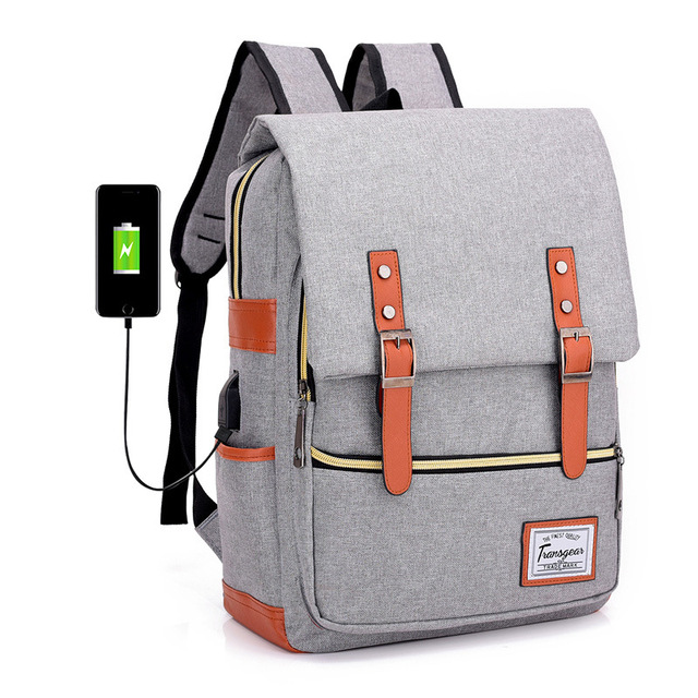326810e89ab7 US $30.0 |New Men's Backpack Usb Charging Port Smart Backpack For Women  Male Laptop Bag College Wind Waterproof Student Bag-in Backpacks from  Luggage ...
