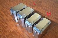 М стиль Портативный нержавеющей стали toolcase домашнего хранения Tool Box Инструмент Упаковка транспортное оборудование мотоцикл стороне коробк