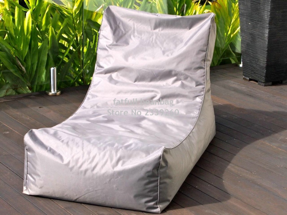 COVER ONLY , no filler Light grey bean bag garden chair, outdoor patio  hammock seat, living room beanbag sofa seats-in Garden Sofas from Furniture  on ... - COVER ONLY , No Filler Light Grey Bean Bag Garden Chair, Outdoor