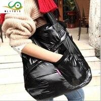 2016 Korean Winter Leisure Female Space Down The Internal Spacing Shoulder Diagonal Cross Cotton Bag Free