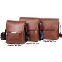 Simple Men oil Leather Crossbody Bag Business Messenger Briefcase Casual Shoulder Bag for Office Staff
