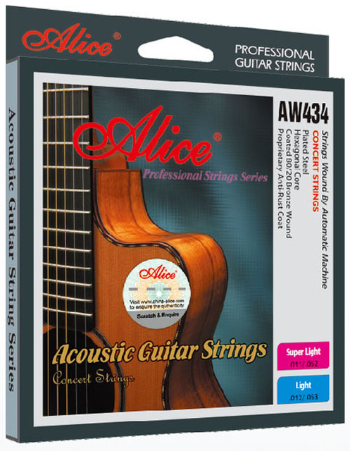 3a0bef4ad60 12 Sets Alice AW434P Hexagonal Core Coated 80 20 Bronze Wound Colourful Ball -end Acoustic Guitar Strings