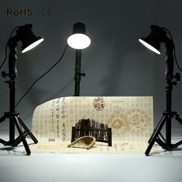 3 piece 5500k photography continuous led lamp table top light studio portable lighting kit with 37cm