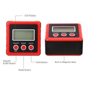 Image 5 - Inclinomètre de rapporteur numérique de précision rouge boîte de niveau étanche à leau boîte de biseau de détecteur dangle numérique avec Base magnétique