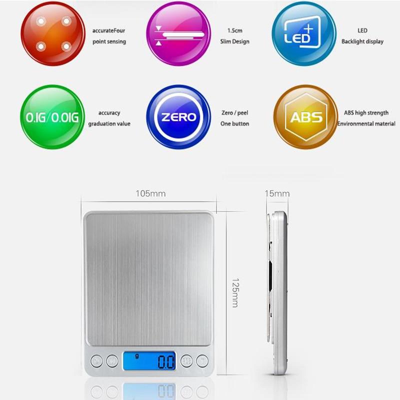Bilancia elettronica digitale Bilancia tascabile Bilancia da cucina - Strumenti di misura - Fotografia 3