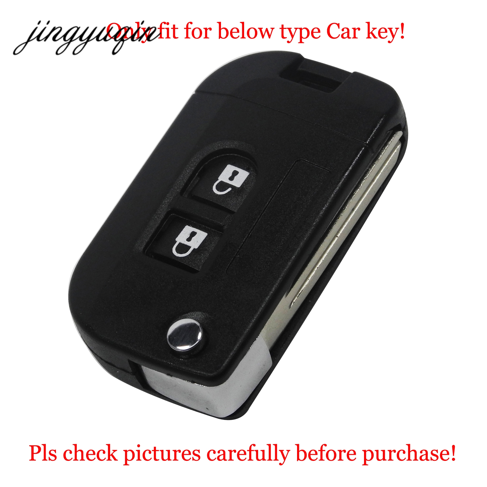 jingyuqin Silicone Flip Key Case for Nissan Qashqai primera Micra Navara Almera Note Sunny Modified Foling Car Key Cover