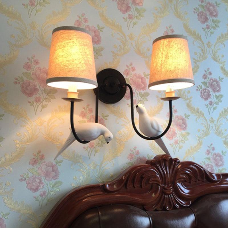 Noord europa angel vogel led wandlamp moderne trap gangpad led ...