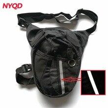 Водонепроницаемая нейлоновая поясная сумка, многофункциональные карманы, Мужская черная мотоциклетная сумка для ног, для улицы,, мотоциклетная сумка