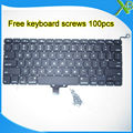 "Brand New US keyboard+100pcs keyboard screws For MacBook Pro 13.3"" A1278 2008-2012 Years"