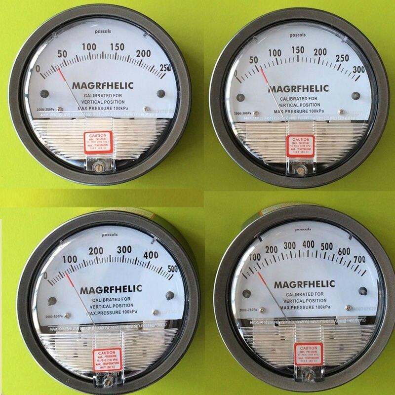 100PA Digital analog high pressure meter Clean Room differential pressure gauge gas digital manometer for air professional table professional digital economic manometer 15 000psi gauge