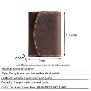 Image 5 - محفظة نسائية للعملات المعدنية الرجال محافظ جلد طبيعي حقيبة مزودة بسحّاب جيب سليم محفظة حامل بطاقة صغيرة تغيير الحقيبة الذكور Billfold